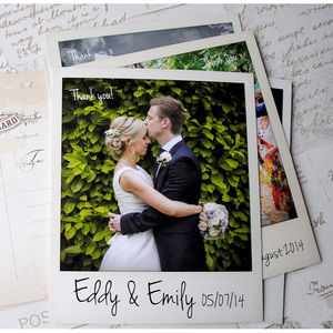 Wedding Polaroid Photo Thank You Cards With Envelopes