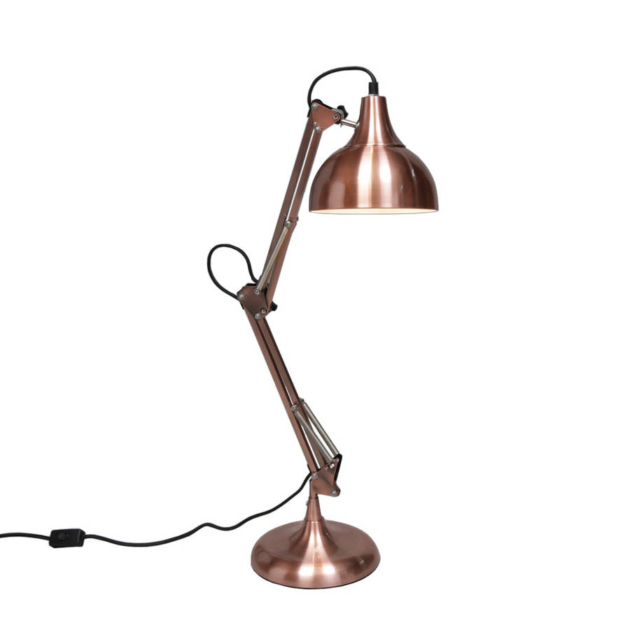 Copper Angle Desk Lamp large copper angle desk lamp by out there interiors  notonthehighstreet.com