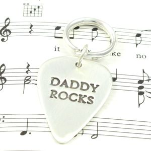 Personalised Silver Plectrum - wedding thank you gifts