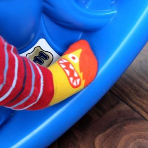 Kids Funny Faces Slipper Socks - stocking fillers