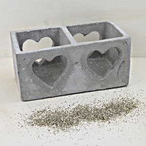 Clay Heart Candle Holder