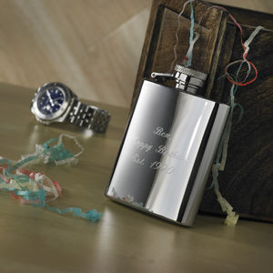 Free Engraved And Personalised Hip Flask - outdoor living