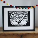 Personalised Dreams Fine Art Print Or Papercut In Mount