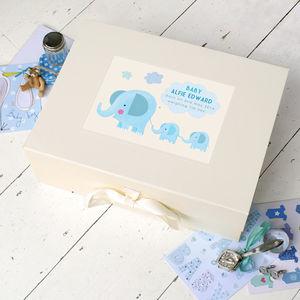 Personalised Baby Keepsake Box - office & study
