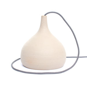 Kent Squash Stoneware Pendant Light - office & study