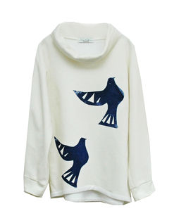 Two Turtle Doves Hand Printed Sweater - tops & t-shirts