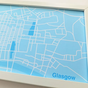 Glasgow City Map Print