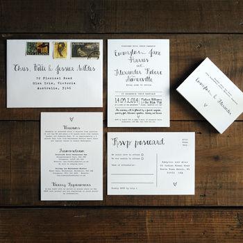 Calligraphy Wedding Invitation Stationery