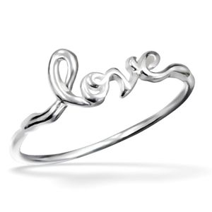 Sterling Silver Love Ring - rings
