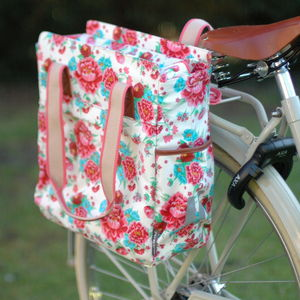 Bloom Shopper Pannier - gifts for cyclists