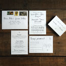 Calligraphy Wedding Save The Date Card Or Magnet
