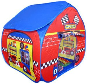 Pitstop Pop Up Tent With Race Track Floorprint - tents, dens & wigwams