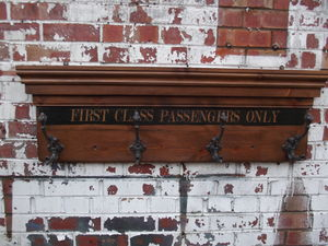 First Class Waiting Room Coat Hook Board - bathroom