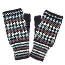 Dogtooth Fingerless Mittens In Organic Cotton