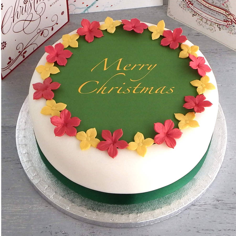 personalised christmas cake decorating kit by clever ...