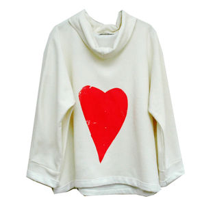 Heart Cream Jumper