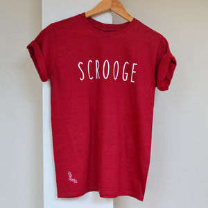 Scrooge Christmas T Shirt With Secret Holly Symbol