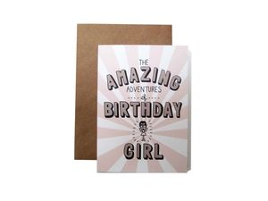'Amazing Adventures Of Birthday Girl' Card