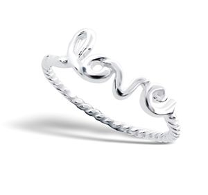 Sterling Silver Stacking Love Ring - rings
