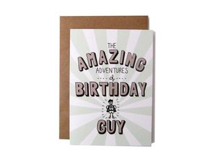 'Amazing Adventures Of Birthday Guy' Card