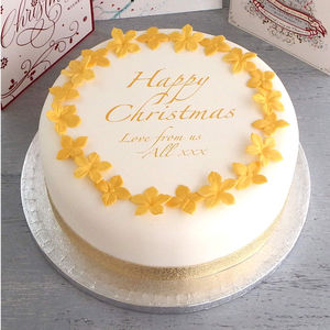 Personalised Christmas Cake Decorating Kit
