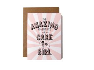 'Amazing Adventures Of Cake Girl' Card