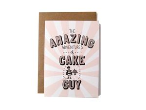 'Amazing Adventures Of Cake Guy' Card