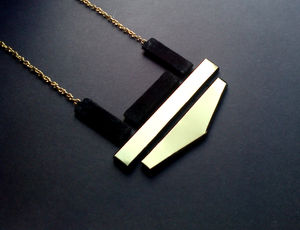 Pille Suede And Brass Necklace - necklaces & pendants