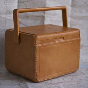 Leather Cutie Coolbox - camping