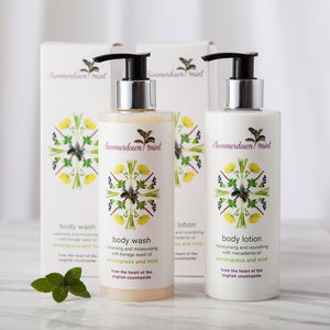 Lemongrass And Mint Nourishing Body Care Set