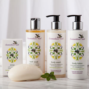 Lemongrass And Mint Bath And Body Care Collection - gifts for grandmothers