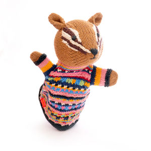 Chipmunk Hand Puppet In Organic Cotton