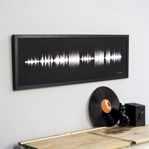 Personalised Your Song Sound Wave Print - gifts for him