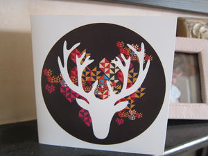 Stag Head Card - cards & wrap