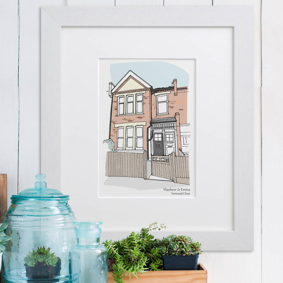 Realistic coloured house illustration