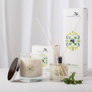 Lemongrass And Mint Candle And Diffuser