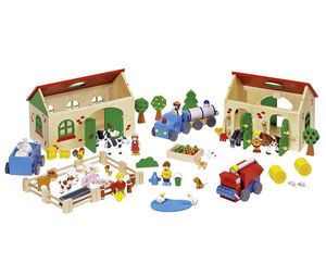 Fun Wooden Farm, Zoo And Stable Toys