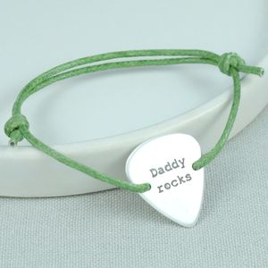 Personalised Plectrum Friendship Bracelet - men's accessories