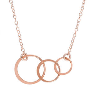 14k Rose Gold Fill Love Life And Laughter Necklace