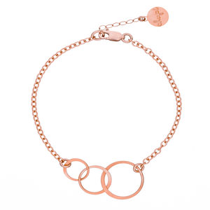 14k Rose Gold Fill Love, Life And Laughter Bracelet - women's jewellery