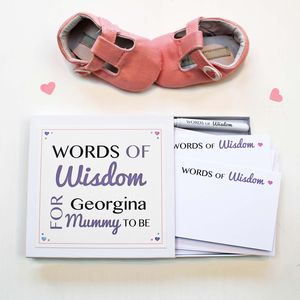 'Mummy To Be' Words Of Wisdom Notes - mother's day gifts