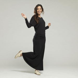 Long Modal Jersey Dress - women's sale