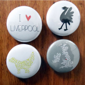 Mini Liverpool Magnets Set Of Four - kitchen
