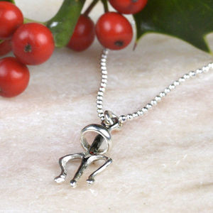Cheeky Angel Silver Necklace