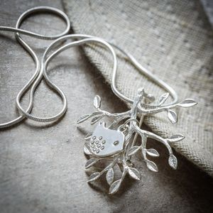 Little Bird And Branch Necklace/ Brooch