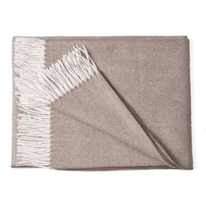 The Alpaca Co. Herringbone Tweed Throw - blankets & throws
