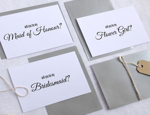 'Will You Be My Bridesmaid' Wedding Card