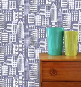 Cityscape Wallpaper Sample - baby's room