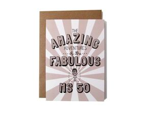 'Amazing Adventures Of The Fabulous Ms 50' Card