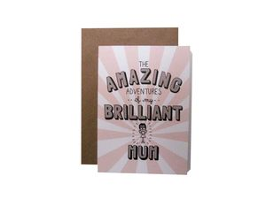 'Amazing Adventures Of My Brilliant Mum' Card - mother's day cards